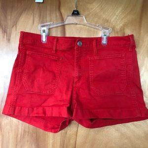 "Gap ""Denim"" Cotton Shorts Red"
